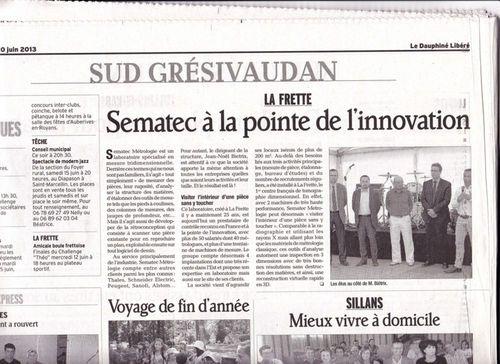Inauguration de l'extension des locaux de Sematec Métrologie