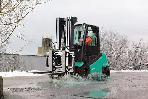 Réalisation du communiqué de presse pour une nouvelle gamme de chariots chez Mitsubishi Forklift Trucks