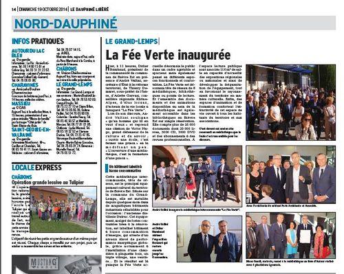 Inauguration de la médiathèque intercommunale La Fée Verte