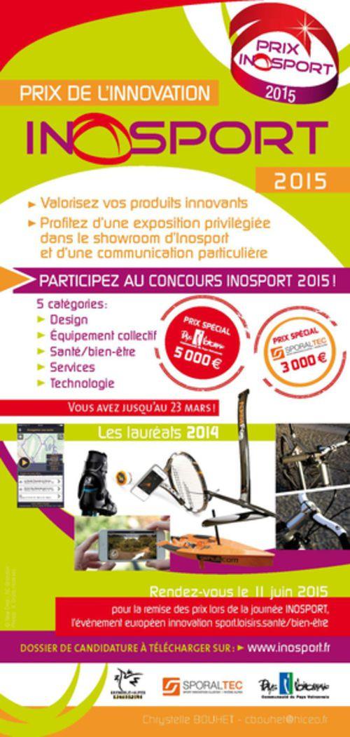 Les inscriptions au concours Inosport 2015 sont ouvertes