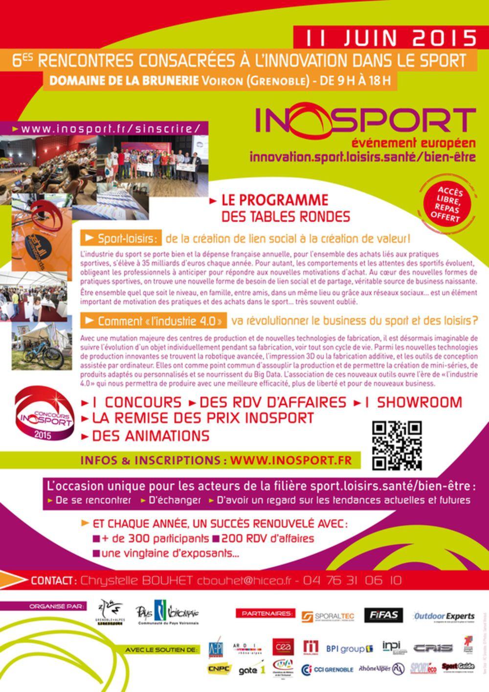 Les inscriptions Inosport 2015 sont ouvertes !