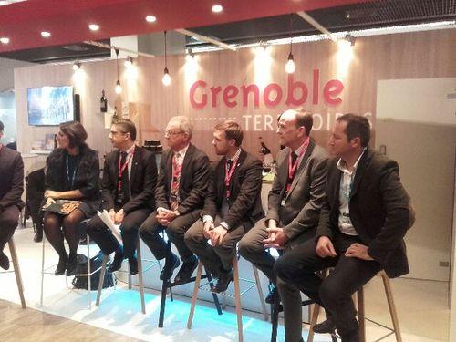 Inauguration du stand Grenoble Territoires