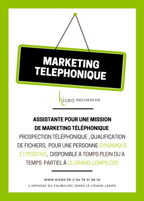 [OFFRE TERMINÉE] Marketing Téléphonique