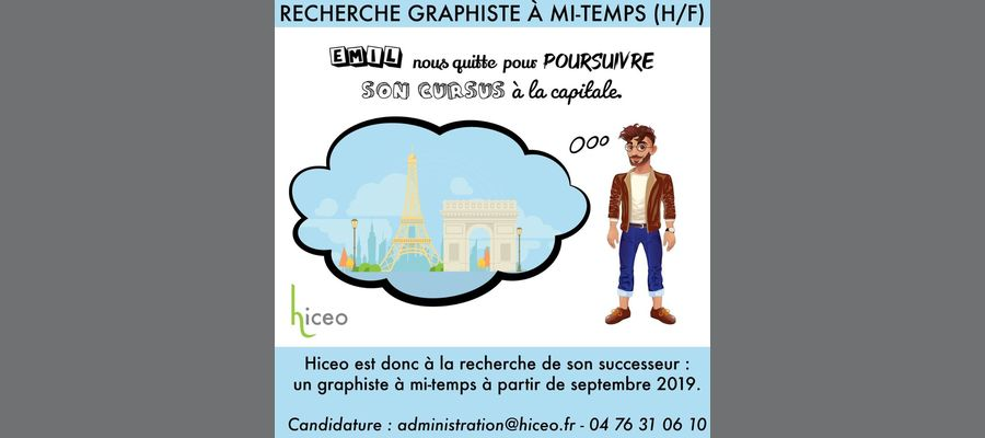 Recherche Graphiste (H/F) à mi-temps