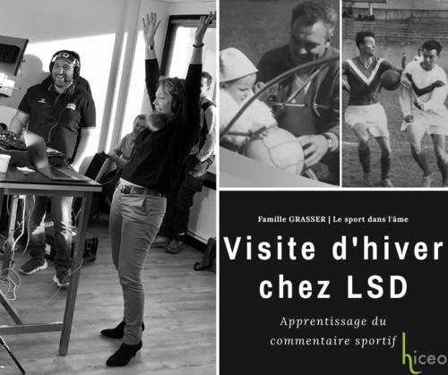Hiceo, avec le Réseau RED en visite d'hiver dans les locaux de LSD - Le Sport Dauphinois.