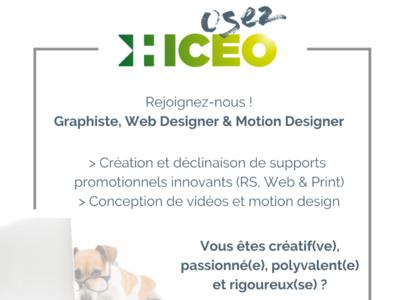 [OFFRE TERMINÉE] Offre d'emploi : Graphiste, Web Designer & Motion designer