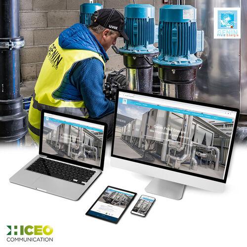 Hiceo réalise le site Web de Genin Froid Energie